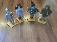 """LOT OF 4 """"WIZARD OF OZ"""" 1987 HAMILTON GIFTS PRESENTS 14"""" FIGURES W/ STANDS"""