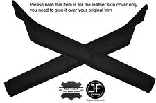 RED STITCH 2X A POST PILLAR LEATHER SKIN COVERS FITS BMW 5 SERIES E28 81-87
