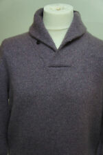 Ralph Lauren Purple Label Scialle Cashmere Jumper in Viola Sz L RP £ 995