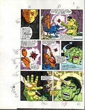 Rare original 1985 Marvel Comics Hulk color guide art page 3: Sal Buscema/1980's