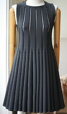 AZZEDINE ALAIA GREY WOOL DRESS MEDIUM