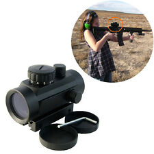 New Tactical 1x40 Red/Green Dot Reticle Rifle Scope Sight Integral Weaver Mount