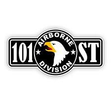101st Airborne Hard Hat Decal / Sticker Vinyl Car Label Army Military Eagles USA