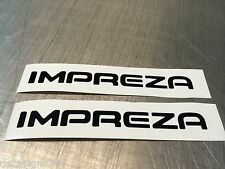 2 x  Subaru Impreza sticker decal