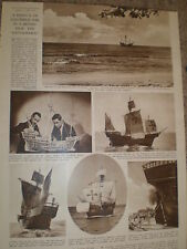 Photo article replica ship Santa Maria for film Christopher Columbus 1948 ref Z2