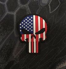 Punisher Skull American Flag PVC Morale Patch