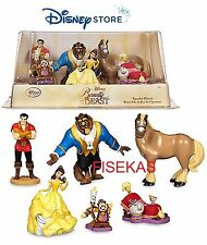 Disney Store Beauty The Beast 6 pc Figure Mini Doll Play Set PVC Cake Topper NEW