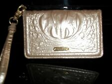 Brahmin Melbourne Croc Embossed Leather Wristlet/Wallet/Phone Case