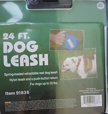 24 FOOT RETRACTABLE DOG LEASH FOR DOGS UP TO 50 LB