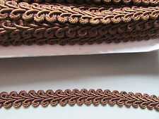 Brown Chinese 1cm Gimp Braid X 1 Metre   Sewing/Costume/Crafts/Corsetry