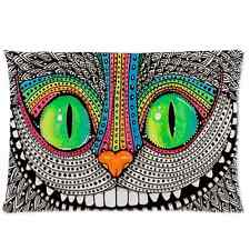 Persomnalized Pillow Case Custom Colorful Cat Pillow Cover 20x30 inch One Side