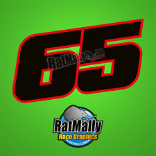 JONATHAN REA 65 WSBK 2016 RACE NUMBERS STICKERS DECALS GRAPHICS x3