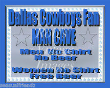 Dallas Cowvboys Man Cave Beer Sign Poster NFL Football