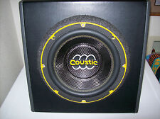 Coustic speaker subwoofer 10'' car audio in good working order has bean tested