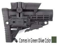 CBS+ACP-S CAA Tactical Green Poly Collapsible Butt Stock & Adjustable Cheek Rest