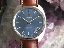 Zenith Vintage Stainless Steel Automatic Wrist Watch, NOS, 6x Signed