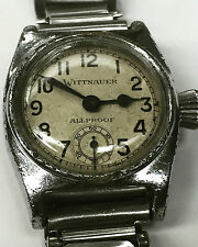 1930's Vintage Wittnauer Aviator Presentation Watch All-Proof Roger Q Williams