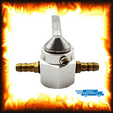 Silver 6mm In Line Fuel Tap Switch Motorcycle On Off ATV Dirt Pit Bike Petrol