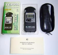 TERRA-P Beta & Gamma Dosimeter Geiger Counter SBM-20 tube in + case! NEW! Boxed