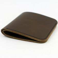 Handmade Genuine Leather Vertical Men's Wallet Bifold Purse Credit Card Billfold