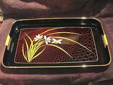 Asahi Lacquerware Tray Set 3pcs Nested New in Original Box