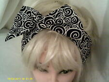 Wide Wire Headband  in Mono Fabric  Limited Stock