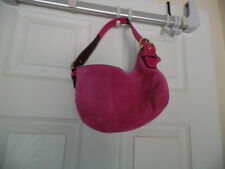 COACH PINK SUEDE SMALL HOBO HANDBAG 5673 WITH WALLET