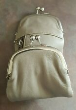 Marshal Leather Cream 120's Cigarette Snap & Zip Case Coin Purse