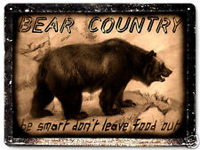 GRIZZLY BEAR STREE metal SIGN gift educational KIDS vintage style wall decor 103