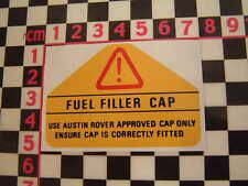 Austin Rover Metro Fuel Filler Warning Sticker - MG Turbo