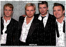 PERSONALISED WESTLIFE  JIGSAW PUZZLE A4 120 PIECE Great Gift Idea  Free PP