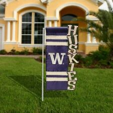 Washington Huskies  Cut-Out House Flag -HUSKIES by Evergreen