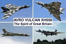 SOUVENIR FRIDGE MAGNET of AVRO VULCAN XH558 - THE SPIRIT OF GREAT BRITAIN