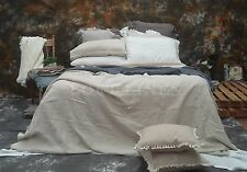 100% Pure Linen French Bed Linen Quilt Cover Linen Duvet linen Set-Natural Queen