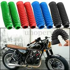 Pair Motorcycle Rubber Front Fork Shock Absorber Boot Dust Cover Gaiters 32mm