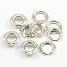 50 Occhielli 14mm DIN 7332,argento,Acciaio INOX V2A INOX,per telone per camion,