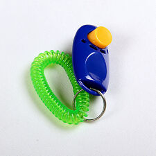 Pet Dog Bird Cat Horse Button Click Clicker Training Obedience Aid Wrist Strap