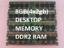 8GB PC2-6400 DDR2 ( 4x 2gb) 800mhz  240p DESKTOP RAM MEMORY Low Density Non-ecc!