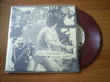 SUBVERT The madness must end  GREAT US HARDCORE PUNK RED VINYL