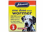 Johnsons One Dose Wormer Dog Worming Tablets Roundworm & Tapeworm SIZE 3