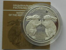 Belarus  Weißrussland  20 rubel 2014 Hares  Hase  Silver 1oz mint.4000