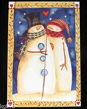 Leanin Tree Christmas Greeting Card Country Snowman Love Multi Color C10