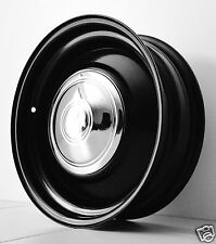 "15"" x 5"" BLACK steel WHEELS FORD XY XA FALCON FORD MUSTANG HQ HOLDEN HQ HOT ROD"