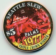 LAS VEGAS PALMS SEATTLE SLEW TRIPLE CROWN WINNER  $5 CASINO CHIP