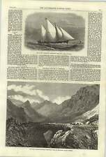 1868 S Australian Newspaper Press Boat Port Adelaide Inca's Bridge South America