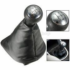 5 Speed Gear Shift Stick Leather Gaitor Gaiter Knob For PEUGEOT 207 307 406