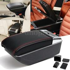 Black Auto Central Armrest Console Box Storage Handrails For Nissan Juke 10-15