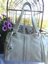Brighton NWT ANALISA CREAM COLOR SOFT LEATHER PURSE/HANDBAG