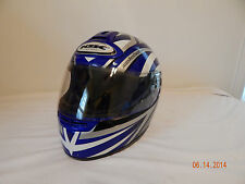 KBC Motorcycle helmet Motodesign Vision Patriot Size XL 61-62 cm Blue silver