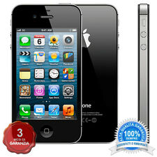 APPLE IPHONE 4S NERO 16GB ORIGINALE + ACCESSORI + 3 MESI GARANZIA GRADO A